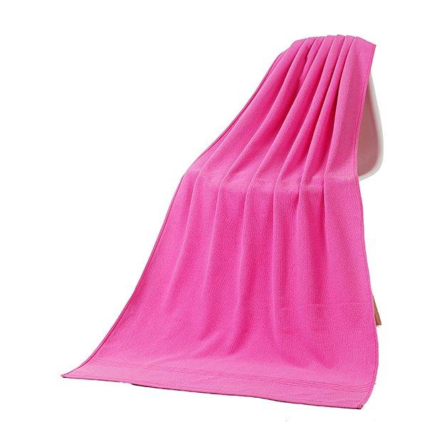 Solid Color Thick Ultrafine Fiber Bath Towel