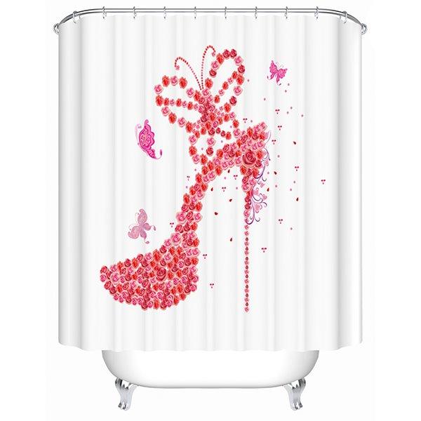 Innovative Design Fashion High-heel Shoe 3D Shower Curtain