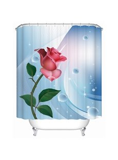 Fashion New Style Fresh Rose 3D Shower Curtain