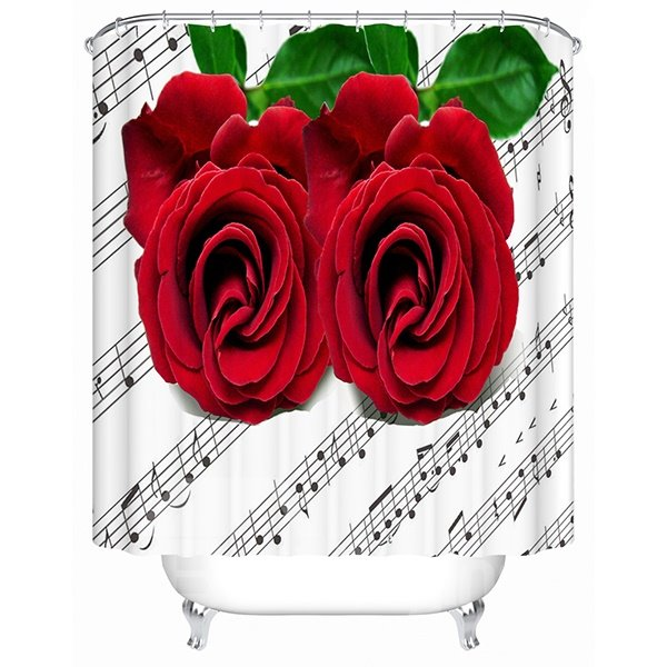 New Design Rose and Stave 3D Shower Curtain