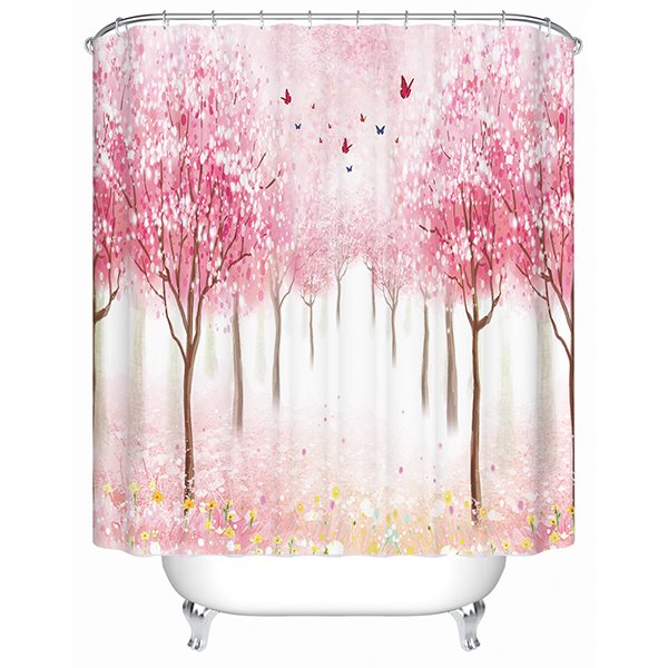 Fancy Dreamlike Field Scenery 3D Shower Curtain