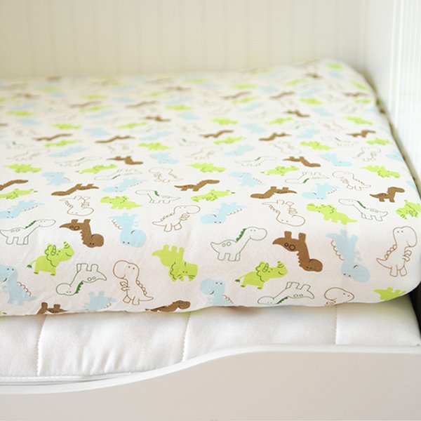 Lovely Little Dinosaur Pattern Cotton Baby Crib Fitted Sheet