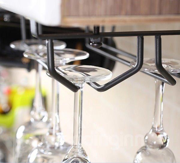 Creative Versatile Cupboard Hanging Wine Rack & Bottle Holders