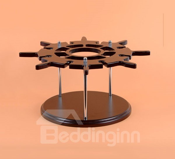 Creative European Style Wood Rudder Design Wine Rack & Bottle Holder