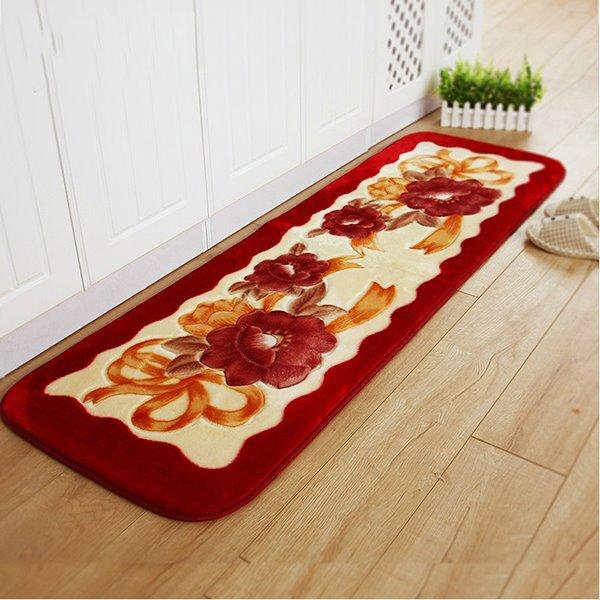 Exquisite Raschel Thick Floral Pattern Bedroom Area Rug