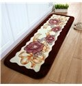 Exquisite Raschel Thick Floral Pattern Bedroom Area Rug