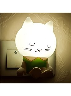 Creative Cartoon Dozing Cat Light-Operated LED Nightlight