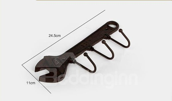 Creative Iron Hammer and Spanner Design 1-Set Wall Hooks