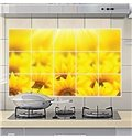 Wonderful Sunflower Kitchen Hearth Removable Wall Sticker