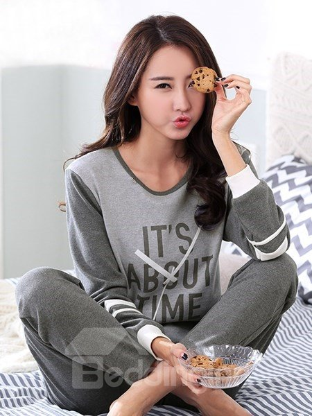 New Style Homedress Leisure 100% Cotton Pajamas Set