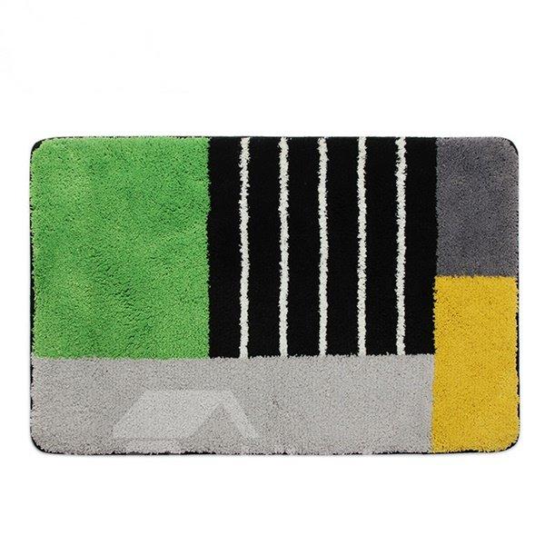 High Quality Multiple Color Stripes Bathroom Rug