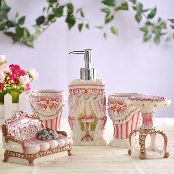 European Style Creative Design Unique 5 Pieces Bathroom Ensembles
