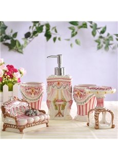 European Style Creative Design Unique 5 Pieces Bathroom Ensembles
