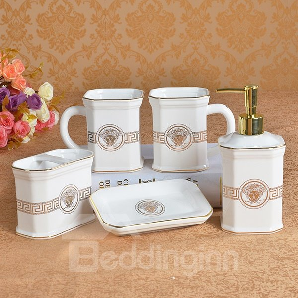 Classical Noble European Style 5 Pieces Bathroom Ensembles