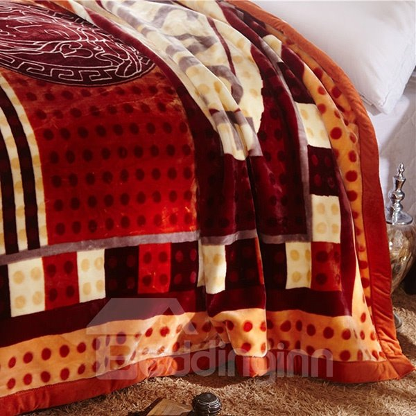 Modern Fashion Stripe Design Thick Cozy Blanket