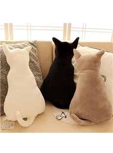 Creative Lovely Cat Shaped Design Throw Pillow