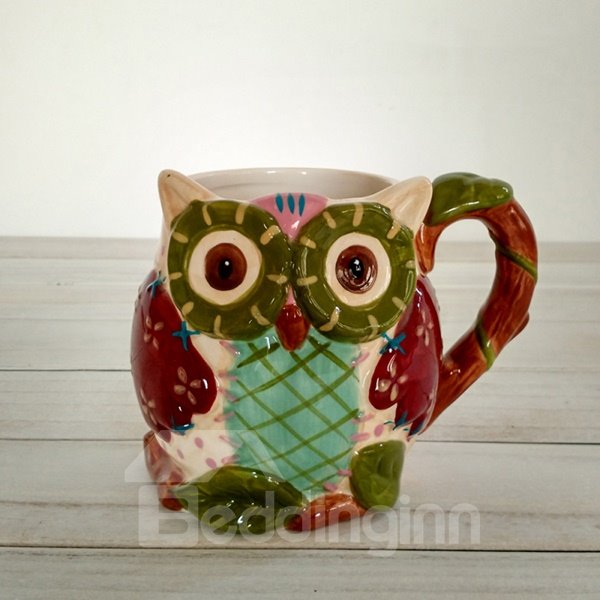 Wonderful 3D Owl Ceramic Beer Mug Coffee Mug