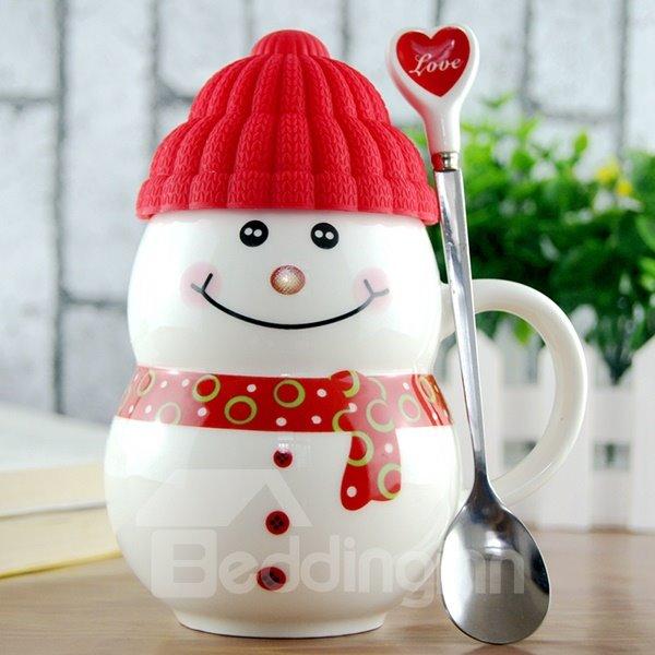 Cute snowman ceramic coffee cup 1 piece for Cup snowman