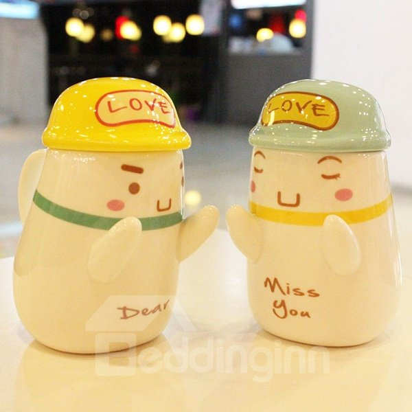 Romantic Cute Hugging Lovers 1-Pair Ceramic Coffee Mug Sets