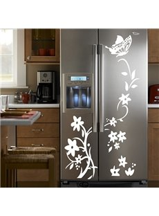 Wonderful Flower Vane Fridge Wardrobe Removable Wall Sticker