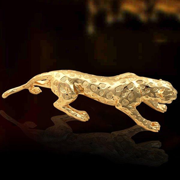 Amazing Resin Leopard Figurine Desktop Decoration Gift Ideas