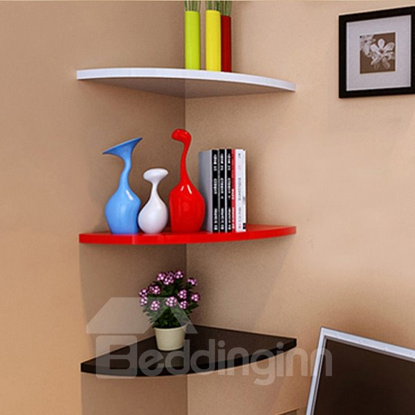 Wonderful Fan Shaped 1-Piece Corner Wall Shelf