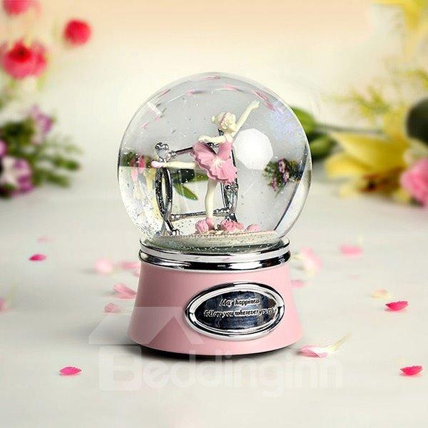 Wonderful Ballet Girl Dancing Crystal Ball Musical Box Gift Idea