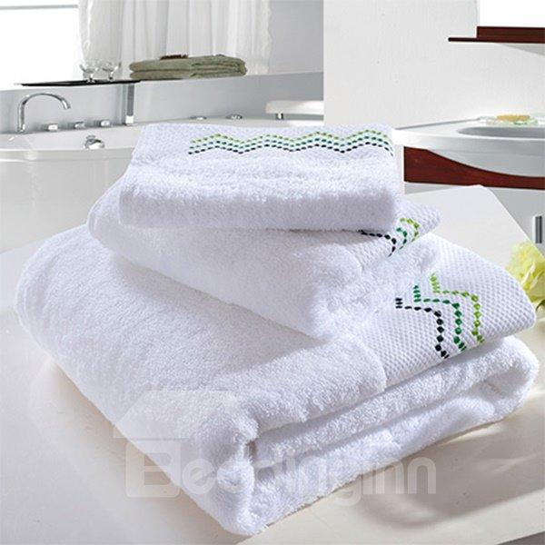 High Class Concise Thicken 100% Cotton Bath Towel Set