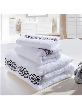 Noble Style Hotel Quality Super-thick Ratten Pattern Bath Tower Set