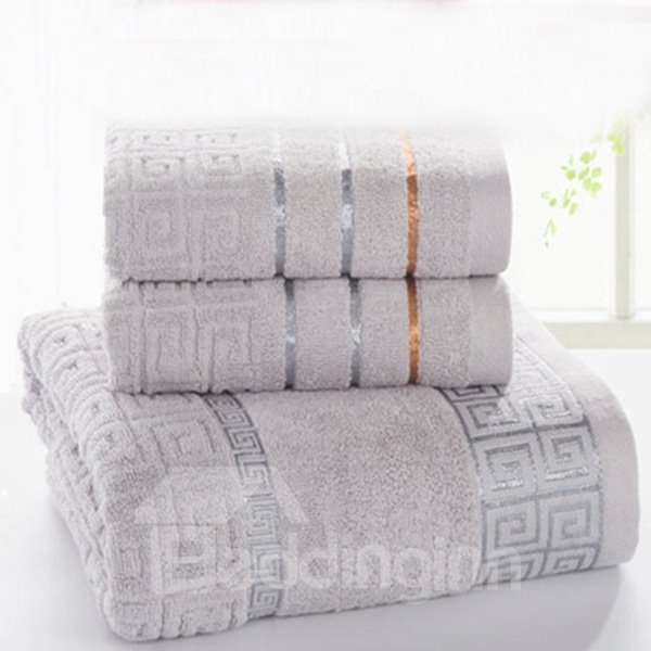 Noble Graceful Style 100% Cotton Bath Towel Set