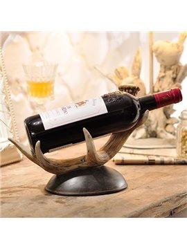 European Style Vintage Deer Antler Design Resin Wine Rack