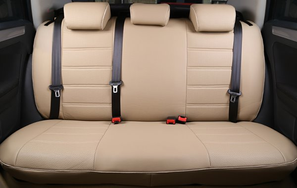 Classic And Concise Designed Pure Color PU Leatherette Material Custom Fit Car Seat Covers