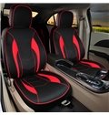 Premium Leather Material Black Colored Stripe Patterned Custom Fit Seat Cover