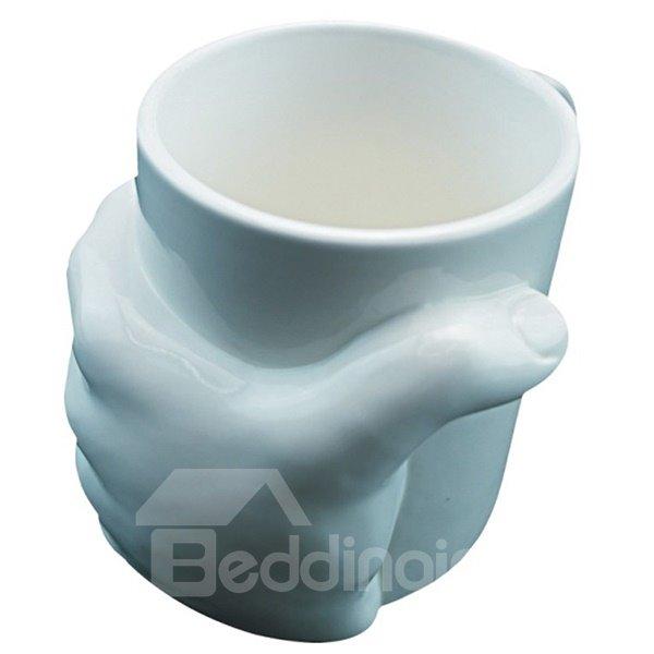 Creative 3D Hand Holding the Mug Ceramic Coffee Mug