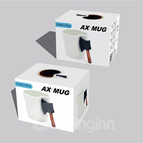 Creative Axe Handle Design Ceramic Coffee Mug