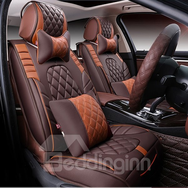 Sport Series Contrast Colored Designed For Comfort PU Leatherette Material Universal Fit Car Seat Covers