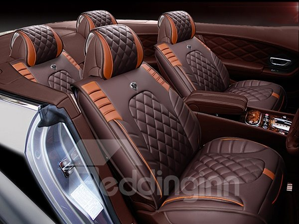 Sporty Designed Contrast Colored PU Leatherette Material Universal Fit Car Seat Cover