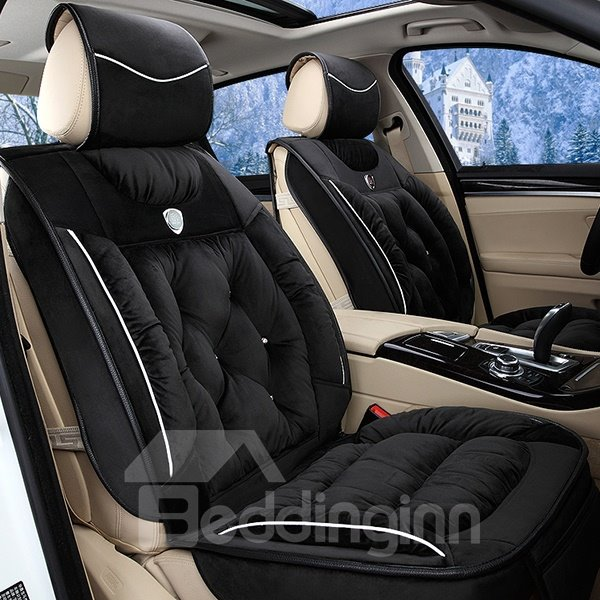 54 Super Comfortable And Durable Short Plush Designed Universal Five Fit Car Seat Cover
