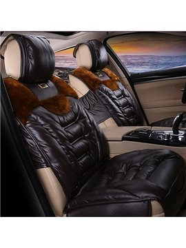 Fashion Series Soft Cushions And Fur With Added Comfort Universal Fit Car Seat Covers