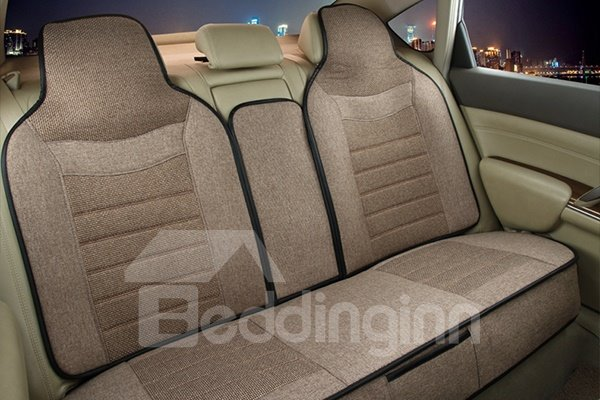 Classic Style Comfy Linen Material Universal Fit Five Car Seat Cover
