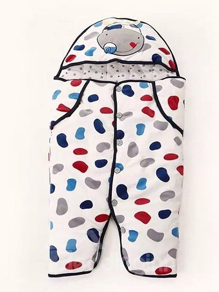 Bouncy Colorful Little Cow Pattern Cotton Baby Sleeping Bag