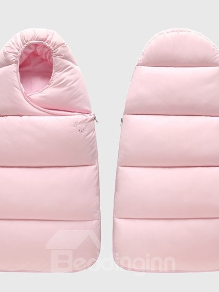 Solid Color Waterproof Surface and Cotton Interior Baby Sleeping Bag