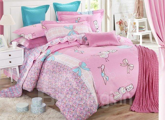 Lovely Sweet Heart Cotton Kids 3-Piece Duvet Cover Sets