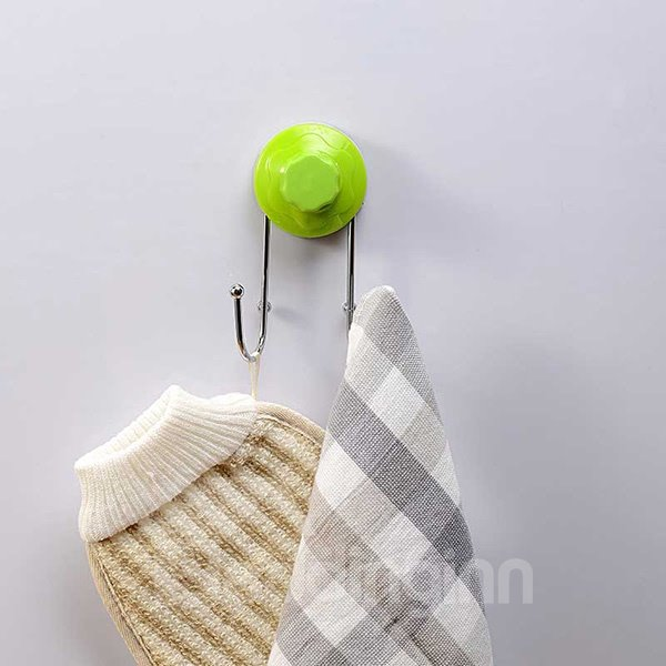 Fashion Multi-functional Solid Color Durable Bathroom Hooks