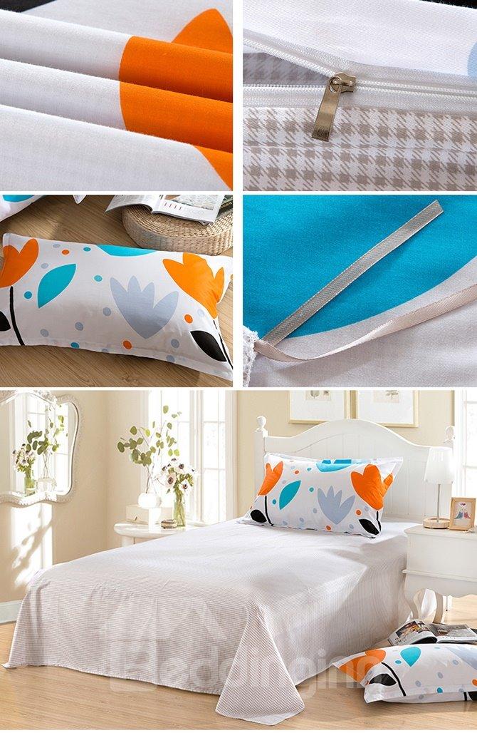 Fresh Plant Pattern Purified Cotton Kids 3-Piece Duvet Cover Sets