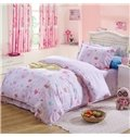 Cute Rabbit and Letter Pattern Kids 100% Cotton 3-Piece Duvet Cover Sets