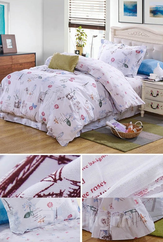 Elegant Butterflies Pattern Kids 100% Cotton 3-Piece Duvet Cover Sets