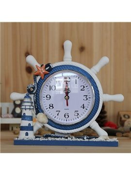 Creative Wooden Rudder Design Desktop Clock