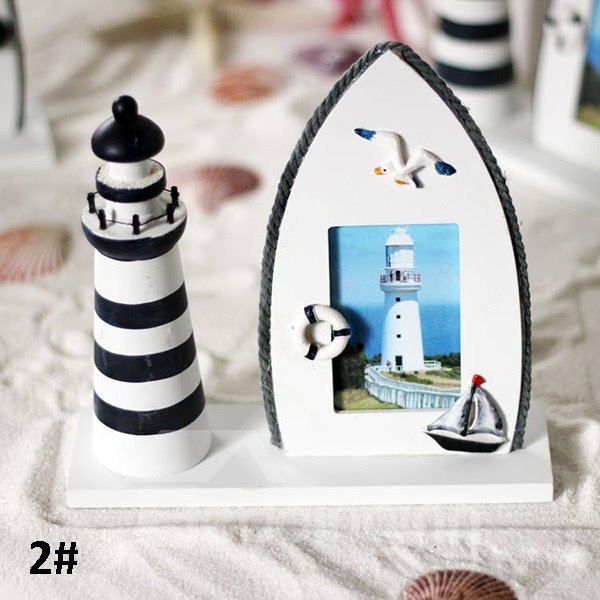 Wonderful Seafaring Theme Wooden Desktop Photo Frame