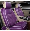 Concise and Classic PU Leather Single Colored Universal Fit Car Seat Cover